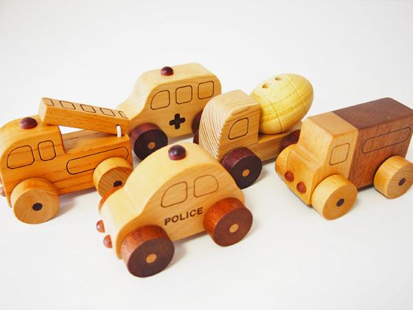 画像4: 木製ミニカー[働く車シリーズ]/パトカー