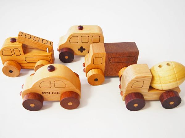 画像5: 木製ミニカー[働く車シリーズ]/パトカー