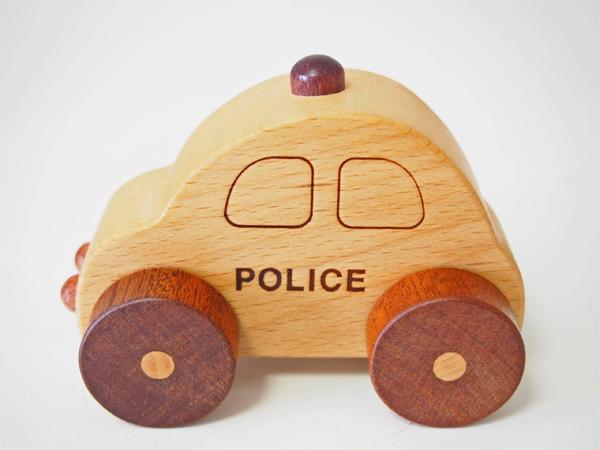 画像3: 木製ミニカー[働く車シリーズ]/パトカー