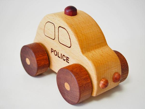 画像2: 木製ミニカー[働く車シリーズ]/パトカー