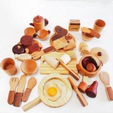 画像2: 木製 ままごと いっぱいセット全26アイテム おままごとセット (2)