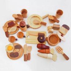 画像4: 木製 ままごと いっぱいセット全26アイテム おままごとセット (4)