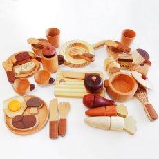画像5: 木製 ままごと いっぱいセット全26アイテム おままごとセット (5)