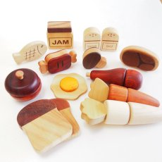画像8: 木製 ままごと いっぱいセット全26アイテム おままごとセット (8)