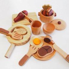 画像11: 木製 ままごと いっぱいセット全26アイテム おままごとセット (11)