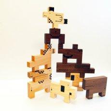 画像3: 木のおもちゃ 積み木 知育 パズル 赤ちゃん ZooZoo 動物 パズルブロック (3)
