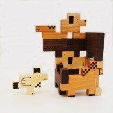 画像5: 木のおもちゃ 積み木 知育 パズル 赤ちゃん ZooZoo 動物 パズルブロック (5)