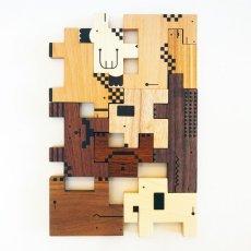 画像6: 木のおもちゃ 積み木 知育 パズル 赤ちゃん ZooZoo 動物 パズルブロック (6)