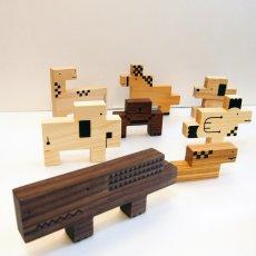 画像7: 木のおもちゃ 積み木 知育 パズル 赤ちゃん ZooZoo 動物 パズルブロック (7)