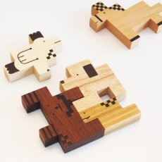 画像8: 木のおもちゃ 積み木 知育 パズル 赤ちゃん ZooZoo 動物 パズルブロック (8)