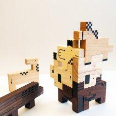 画像9: 木のおもちゃ 積み木 知育 パズル 赤ちゃん ZooZoo 動物 パズルブロック (9)