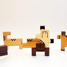 画像10: 木のおもちゃ 積み木 知育 パズル 赤ちゃん ZooZoo 動物 パズルブロック (10)