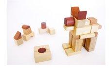 画像12: [アウトレット15%OFF] 積み木 いっぱいセット2段66ピース 名前入り木箱つき 遊び方ガイドつき (12)