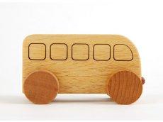 画像6: [アウトレット15%OFF]木製ミニカー[働く車シリーズ]バス、救急車、パトカー、消防車、ミキサー車 (6)