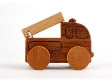 画像7: [アウトレット15%OFF]木製ミニカー[働く車シリーズ]バス、救急車、パトカー、消防車、ミキサー車 (7)