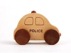 画像9: [アウトレット15%OFF]木製ミニカー[働く車シリーズ]バス、救急車、パトカー、消防車、ミキサー車 (9)
