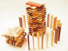 画像5: 天然木のスティック 積み木 150ピース入り 木製 ドミノ 知育玩具 (5)