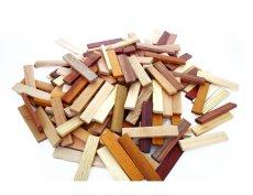 画像10: 天然木のスティック 積み木 150ピース入り 木製 ドミノ 知育玩具 (10)