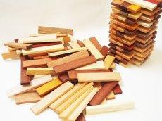 画像4: 天然木のスティック 積み木 150ピース入り 木製 ドミノ 知育玩具 (4)