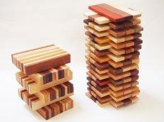 画像3: 天然木のスティック 積み木 150ピース入り 木製 ドミノ 知育玩具 (3)