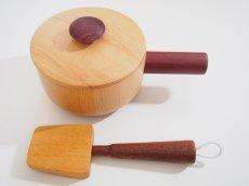 画像4: 木製ままごと 天然木の片手鍋セット(単品) 調理器具シリーズ 木のおもちゃ ままごとおもちゃ 片手鍋 フライ返し 木のおままごと 料理 クッキング 送料無料 SOOPSORI スプソリ (4)