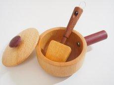 画像2: 木製ままごと 天然木の片手鍋セット(単品) 調理器具シリーズ 木のおもちゃ ままごとおもちゃ 片手鍋 フライ返し 木のおままごと 料理 クッキング 送料無料 SOOPSORI スプソリ (2)
