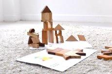 画像5: 知育玩具 3歳  図形いっぱい 組み合わせ パズル 色々な形を作ってみよう 遊び方ガイドつき (5)