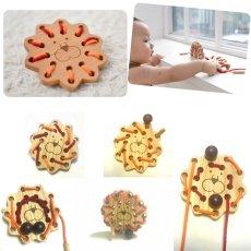 画像7: 知育玩具 紐通し ライオン 知育おもちゃ 3歳 4歳 ひも通し おもちゃ (7)
