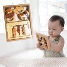 画像1: 赤ちゃん おもちゃ ギフトセット  ファーストステップ4点セット 出産祝い 天然素材 男の子 女の子 木製 知育玩具 (1)