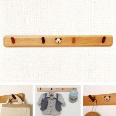 画像2: ◆キッズ壁掛けハンガーラック◆[ウッドベア子供家具シリーズ] (2)