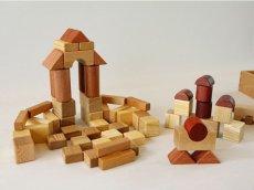画像5: [アウトレット15%OFF] 積み木 いっぱいセット2段66ピース 名前入り木箱つき 遊び方ガイドつき (5)