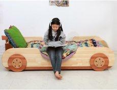 画像15: ◆くるまベッド シングルサイズ◆ 子ども用 名入れ無料 【子供家具 天然木 家具 キッズ インテリア 入園祝い 男の子 女の子 デザインベッド 子供用ベッド スプソリ】 (15)