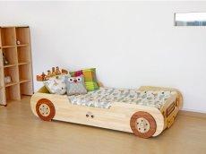画像8: ◆くるまベッド シングルサイズ◆ 子ども用 名入れ無料 【子供家具 天然木 家具 キッズ インテリア 入園祝い 男の子 女の子 デザインベッド 子供用ベッド スプソリ】 (8)
