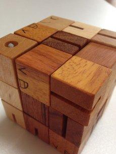 画像7: 木製キューブブロックパズル[名入れおもちゃ] (7)