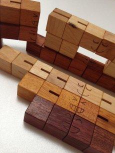 画像6: 木製キューブブロックパズル[名入れおもちゃ] (6)