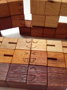 画像5: 木製キューブブロックパズル[名入れおもちゃ] (5)