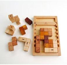 画像10: 木製キューブブロックパズル[名入れおもちゃ] (10)