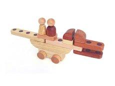 画像8: 木製マグネットブロック15ピース ロボットも乗り物も変幻自在【木のおもちゃ 知育 組立 ブロック 磁石 マグネット くるま 知能 ブロック 3歳 4歳 5歳 6歳 スプソリ】 (8)