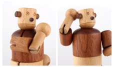 画像10: 木のおもちゃ 赤ちゃん 木製ロボット タルボ 手足の関節も自由自在に動く 木のロボット 人形 赤ちゃんおもちゃ 1歳おもちゃ 2歳おもちゃ 3歳おもちゃ 知育玩具 出産祝い 1歳 1.5歳 2歳 3歳 誕生日 木製ドール (10)