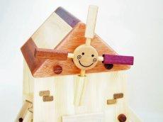 画像14: アウトレット25%OFF 木のおもちゃ 知育玩具 1歳 2歳 3歳 ドールハウス 動物人形と風車小屋セット 名前入 組立式 おうちごっこ おもちゃ ドール 滑り台 ブランコ はしご 馬車 木製ドライバー (14)