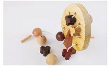 画像4: 知育玩具 3歳 おもちゃ ビーズ ひも通し遊び 木のおもちゃ 女の子 男の子 知育おもちゃ 指先 木製 パズル 知能 教材 インテリア 教育 保育園 幼稚園 託児室 キッズルーム (4)