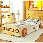 画像1: ◆くるまベッド シングルサイズ◆ 子ども用 名入れ無料 【子供家具 天然木 家具 キッズ インテリア 入園祝い 男の子 女の子 デザインベッド 子供用ベッド スプソリ】 (1)