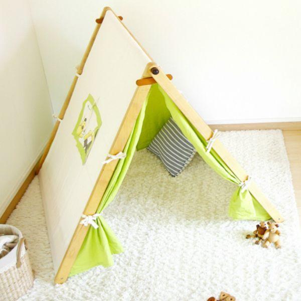 画像1: 子ども用 プレイテント ハンガーラック 今すぐできる!ぼくのわたしの部屋 (1)