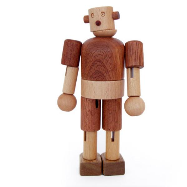 画像1: 木のおもちゃ 赤ちゃん 木製ロボット タルボ 手足の関節も自由自在に動く 木のロボット 人形 赤ちゃんおもちゃ 1歳おもちゃ 2歳おもちゃ 3歳おもちゃ 知育玩具 出産祝い 1歳 1.5歳 2歳 3歳 誕生日 木製ドール (1)