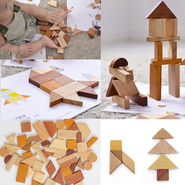 画像1: 知育玩具 3歳  図形いっぱい 組み合わせ パズル 色々な形を作ってみよう 遊び方ガイドつき (1)